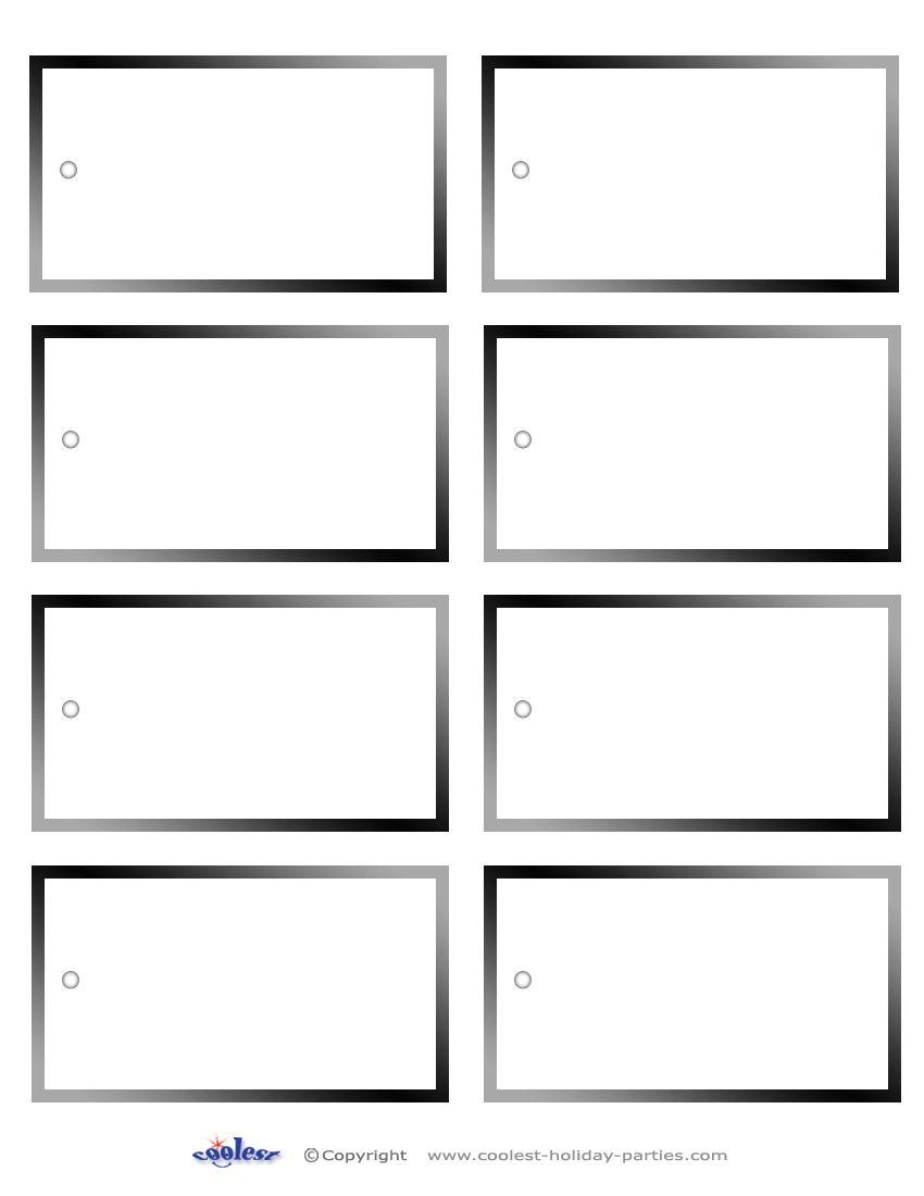 5 Images Of Free Printable Blank Christmas Gift Tags | Christmas - Free Printable Blank Gift Tags