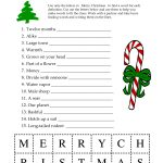 5 Images Of Free Printable Christmas Word Games | Printablee   Free Printable Word Games