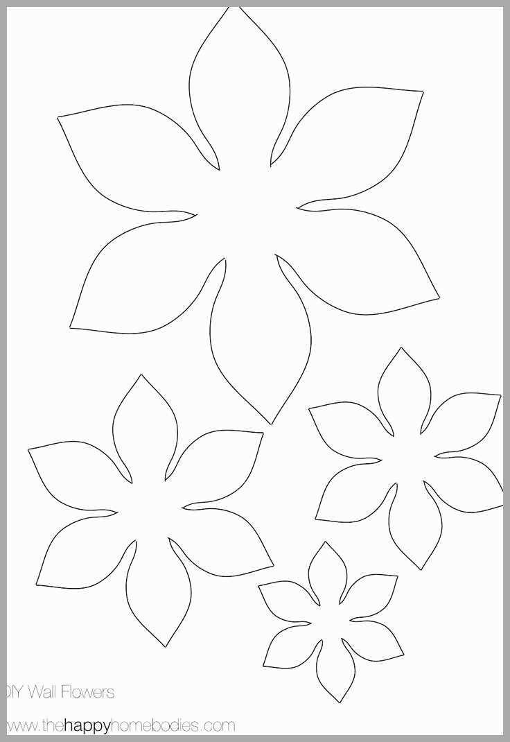 5 Petal Flower Template Printable - Happy Living - 5 Petal Flower Template Free Printable