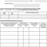 50 Free Employment / Job Application Form Templates [Printable   Free Printable Job Application Form