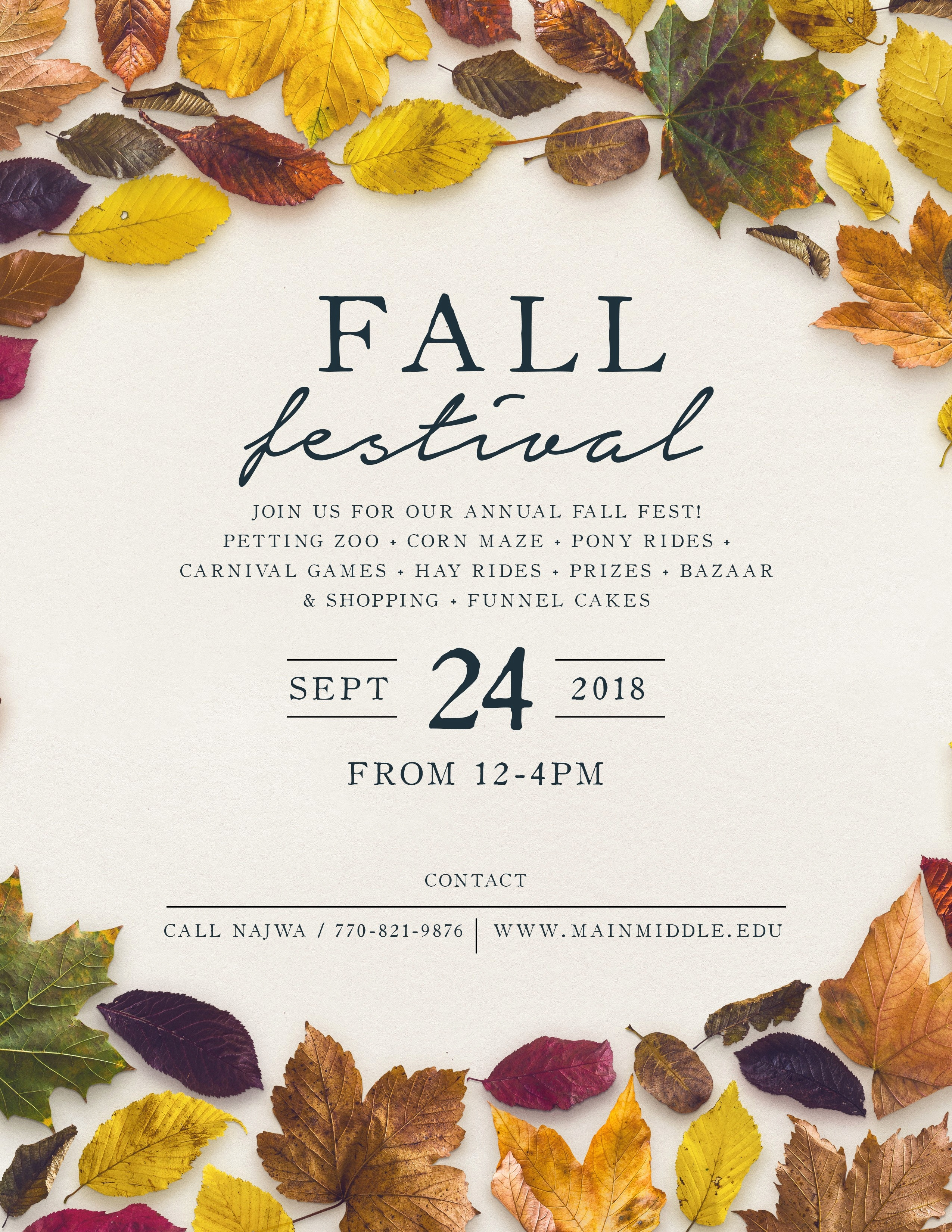 50 Luxury Free Fall Flyer Templates | Speak2Net - Free Printable Fall Flyer Templates