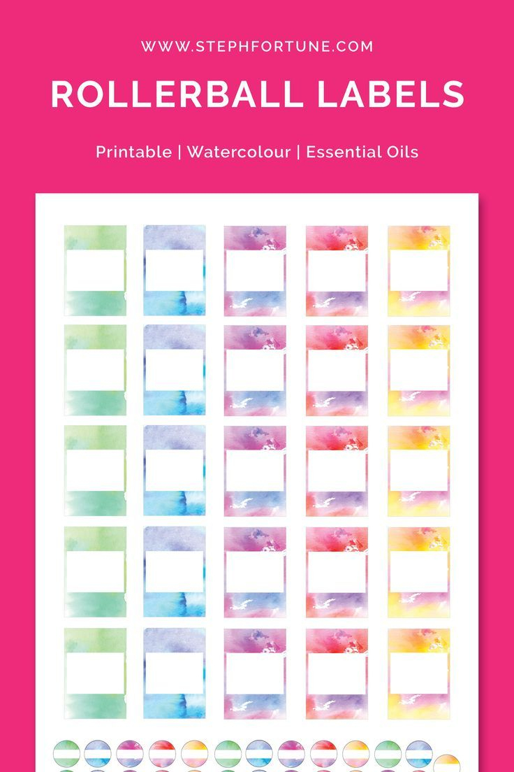 5Ml Rollerball Labels Blank | Printable 10Ml Essential Oil Labels - Free Printable Roller Bottle Labels