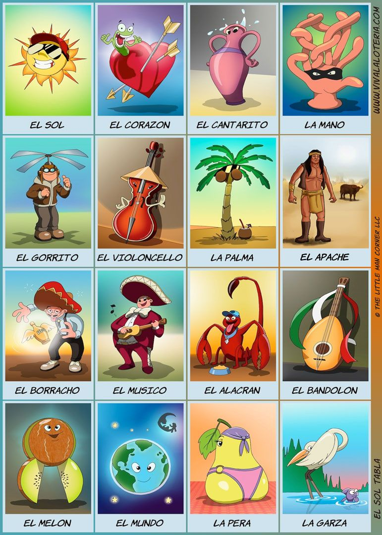 5X7 Printables (Print At Walgreens)   Pancha Pochita!   Pinterest - Free Printable Loteria Game