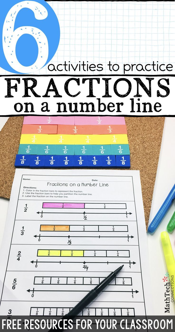 6 Activities To Practice Fractions On A Number Line - Download Free - Free Printable Math Centers