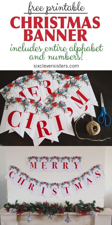 6 Free Printable Christmas Signs | Christmas | Pinterest | Christmas - Free Printable Christmas Banner