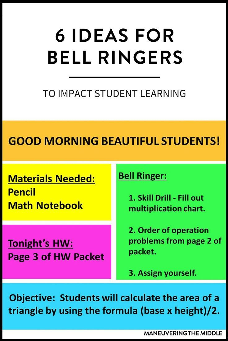 6 Ideas For Bell Ringers | Bright Ideas For The Classroom | Bell - Free Printable Bell Ringers