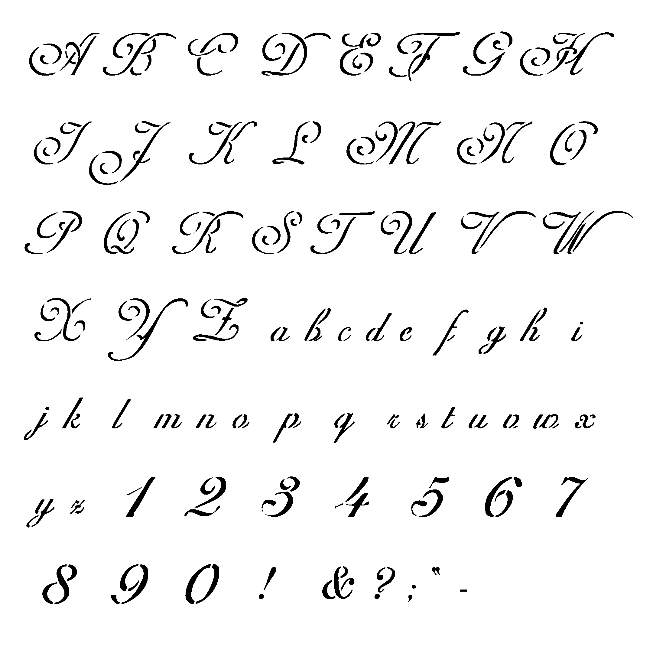 6 Stencil Embroidery Font Images - Free Printable Monogram Letter - Free Printable Fonts Stencils