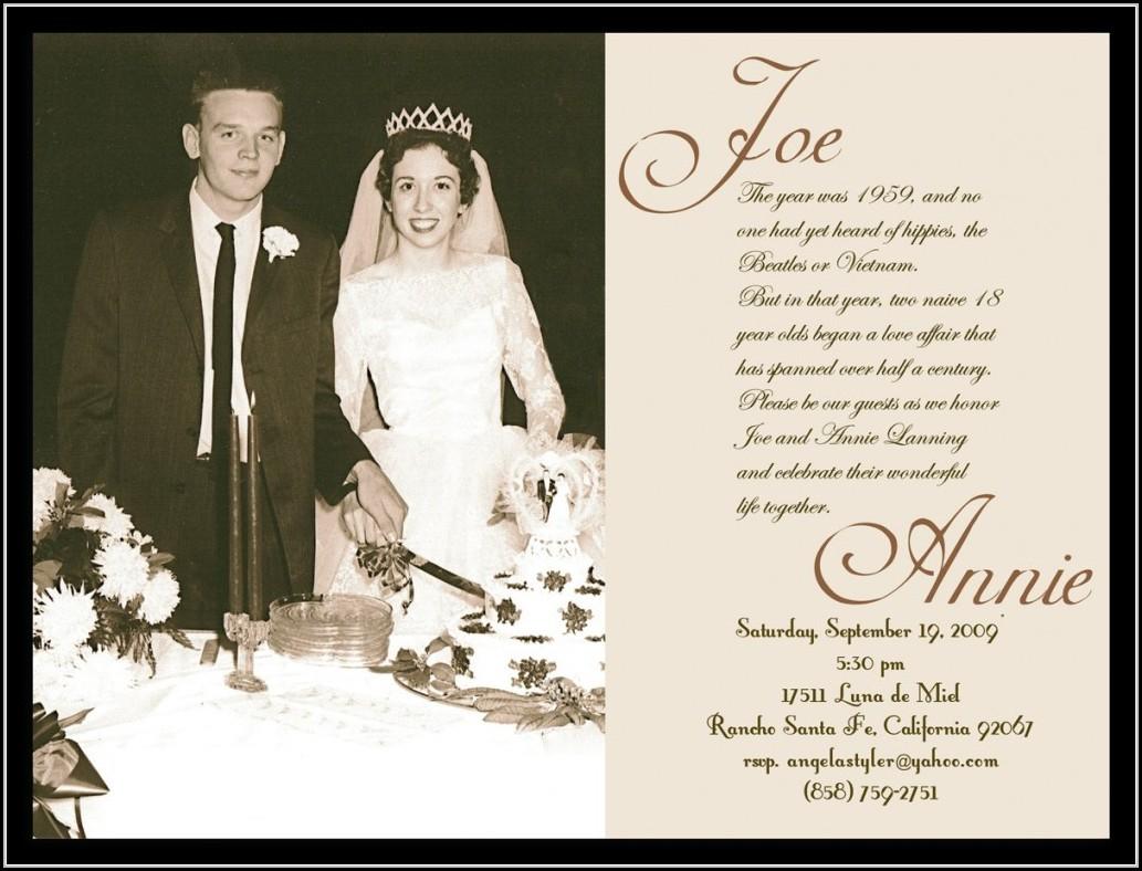60Th Wedding Anniversary Invitations Free Templates - Template 1 - Free Printable 60Th Wedding Anniversary Invitations