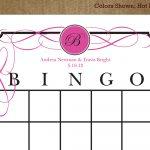 7 Best Images Of Printable Bridal Bingo Cards Free Pink Floral   Free Printable Bridal Shower Blank Bingo Games