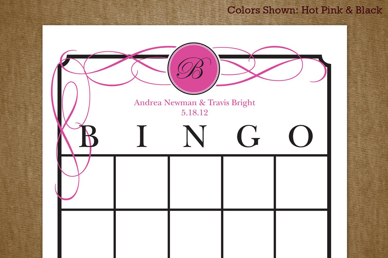 7 Best Images Of Printable Bridal Bingo Cards Free Pink Floral - Free Printable Bridal Shower Blank Bingo Games