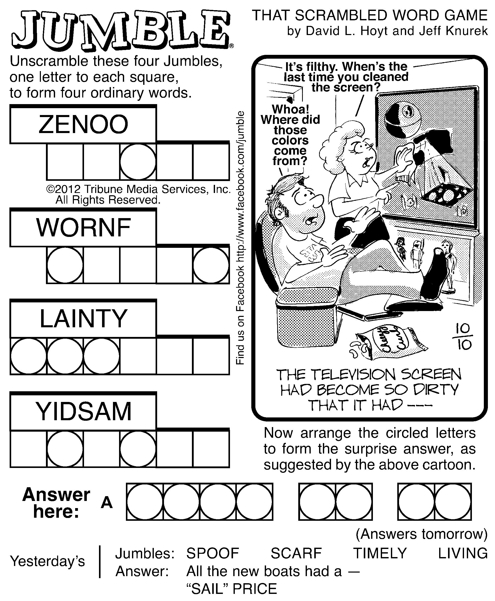 7 Best Images Of Printable Jumble Word Puzzles Coping   Jumble - Jumble Puzzle Printable Free