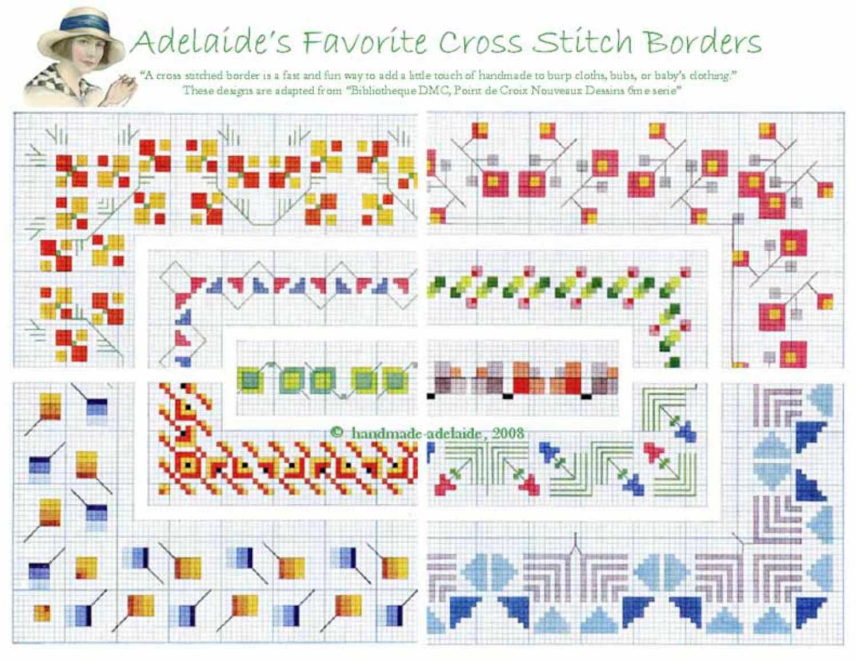7 Cross Stitch Border Patterns - Baby Cross Stitch Patterns Free Printable