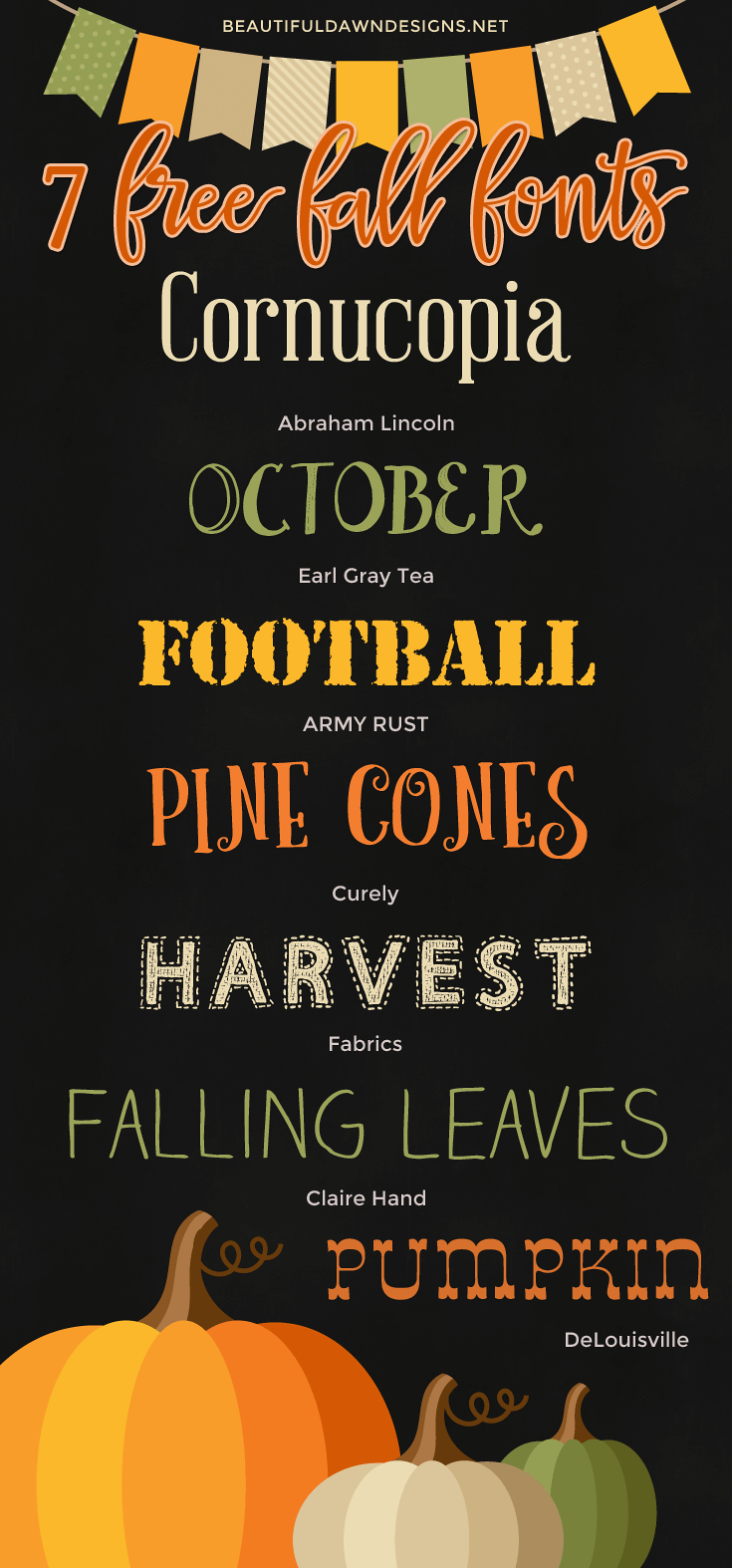 7 Free Fall Fonts (With Free Printable) | Font Series #25 - Free Printable Fonts
