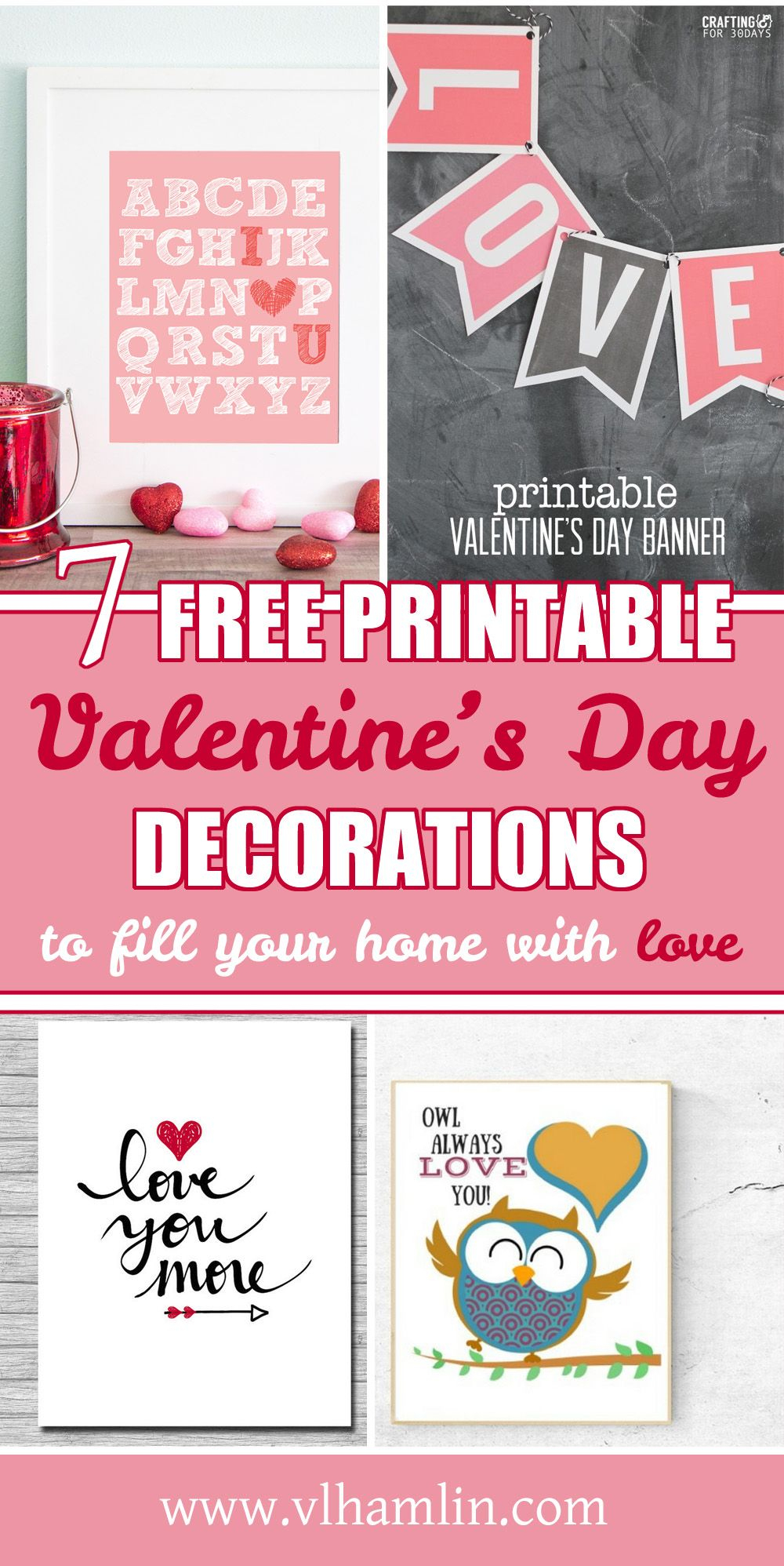 7 Free Printable Valentines Day Decorations To Fill Your Home With - Free Printable Valentine's Day Decorations