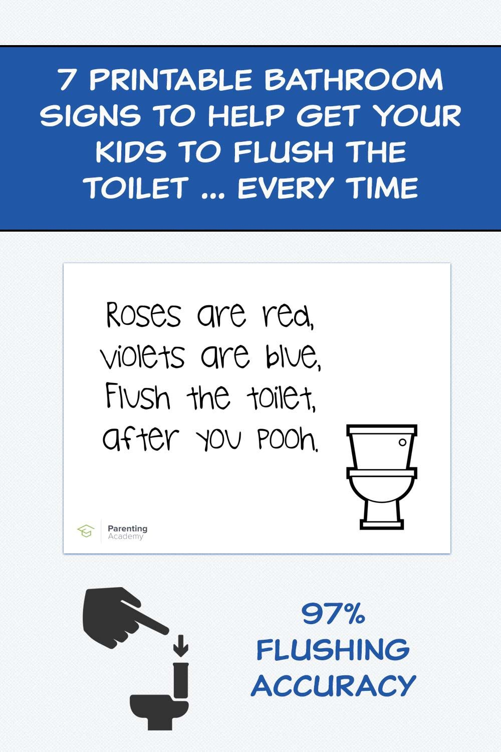 7 Printable Bathroom Signs To Help Get Your Kids To Flush The Toilet - Free Printable Do Not Flush Signs