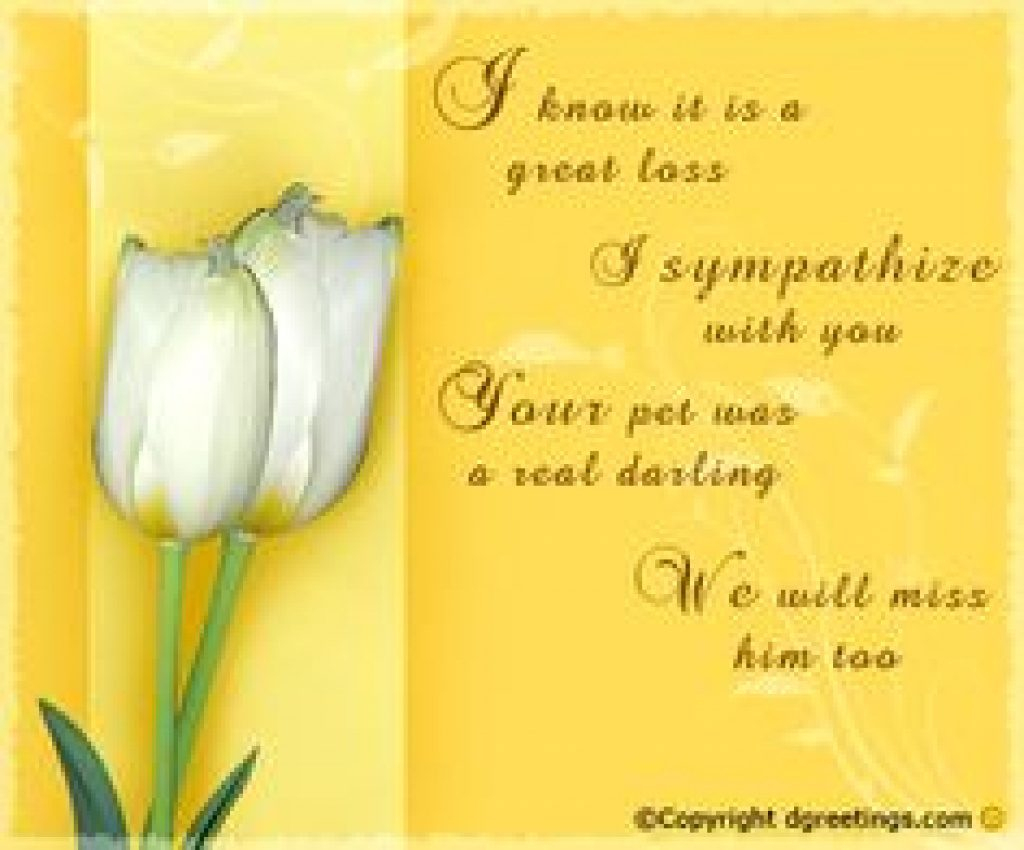 8 Best Cards & Words For Cards Images On Pinterest | Condolences - Free Printable Sympathy Cards For Loss Of Dog