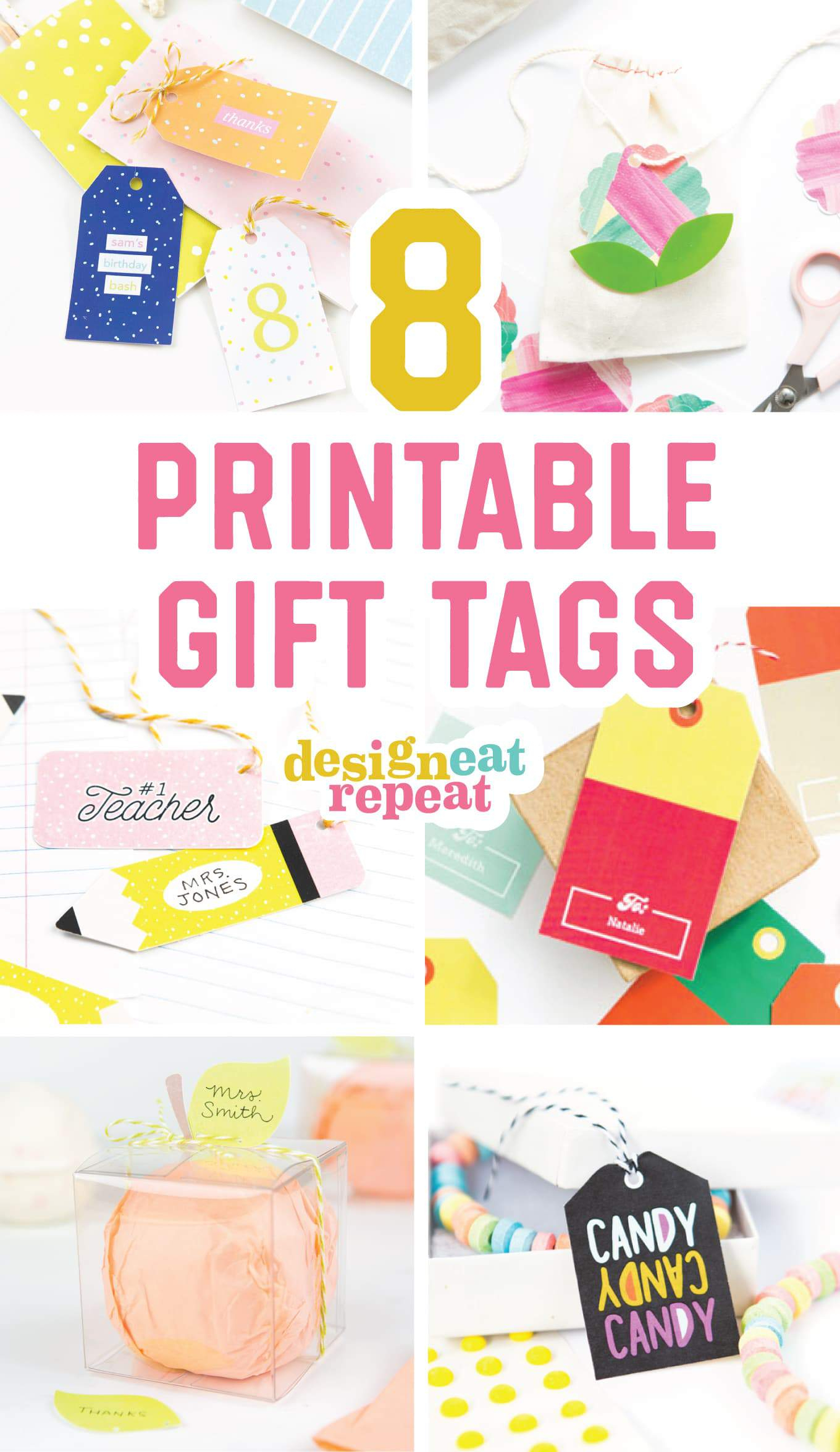 8 Colorful & Free Printable Gift Tags For Any Occasion! - Free Printable Favor Tags