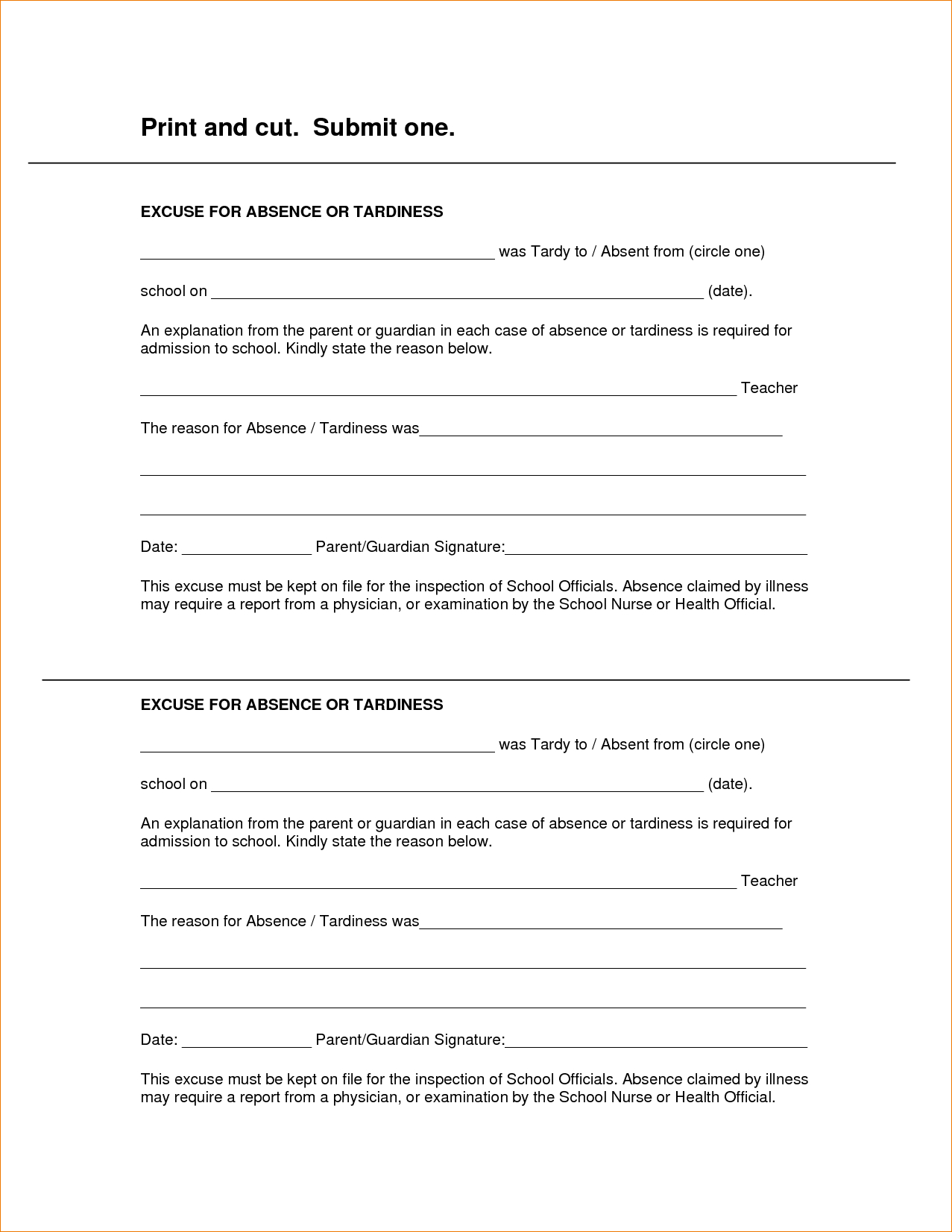 8 Free Printable Doctors Excuse For Workagenda Template Sample - Free Printable Doctor Excuse Notes