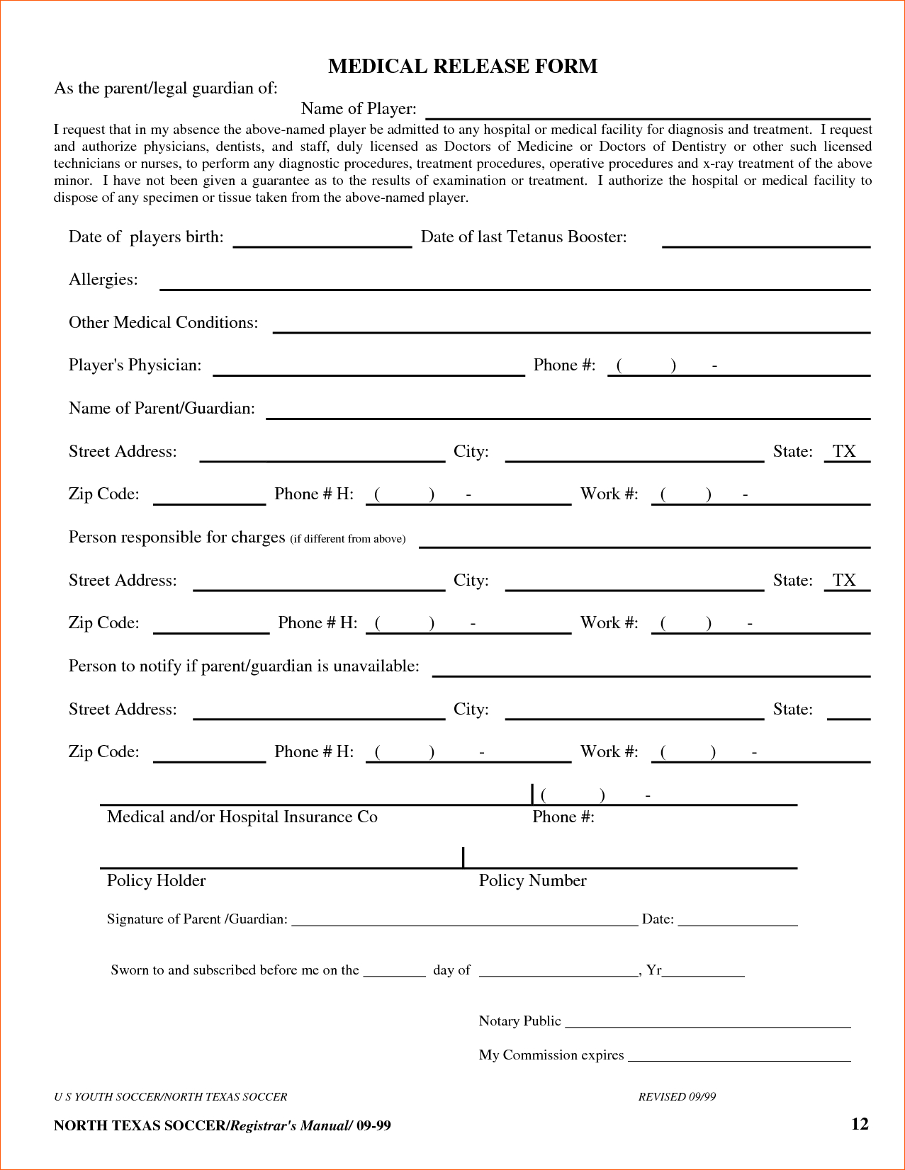 8+ Free Printable Medical Forms | Memo Formats - Free Printable Medical Forms