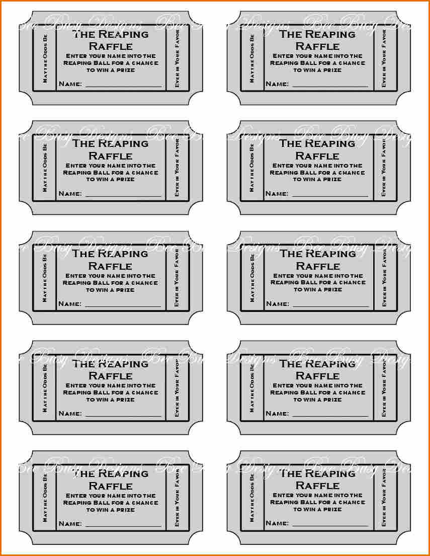 8+ Free Printable Raffle Ticket Template | Job Resumes Word - Free Printable Bridal Shower Raffle Tickets