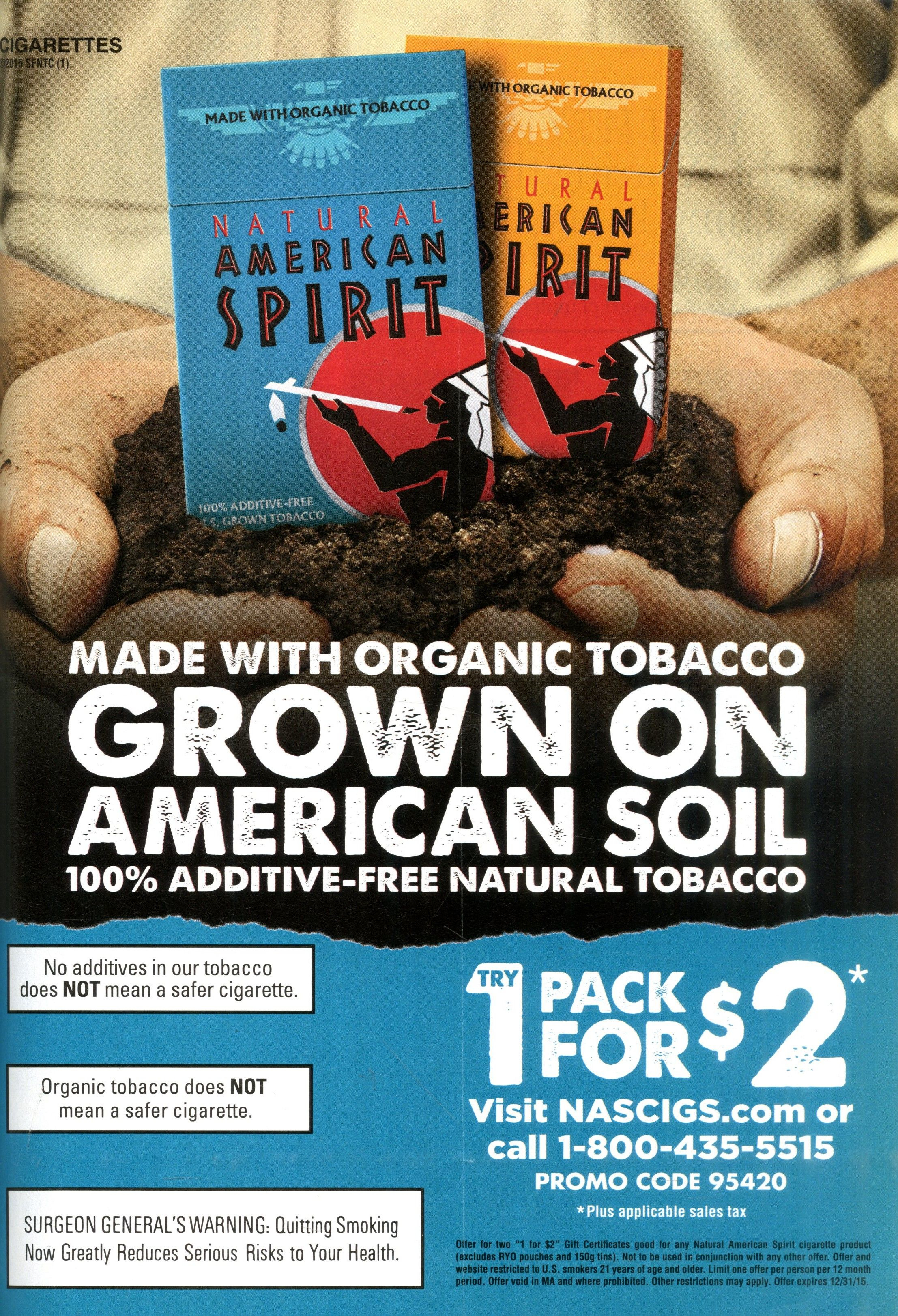 8. Natural American Spirit Cigarettes Source: Glamour, Mar. 2015 - Free Pack Of Cigarettes Printable Coupon