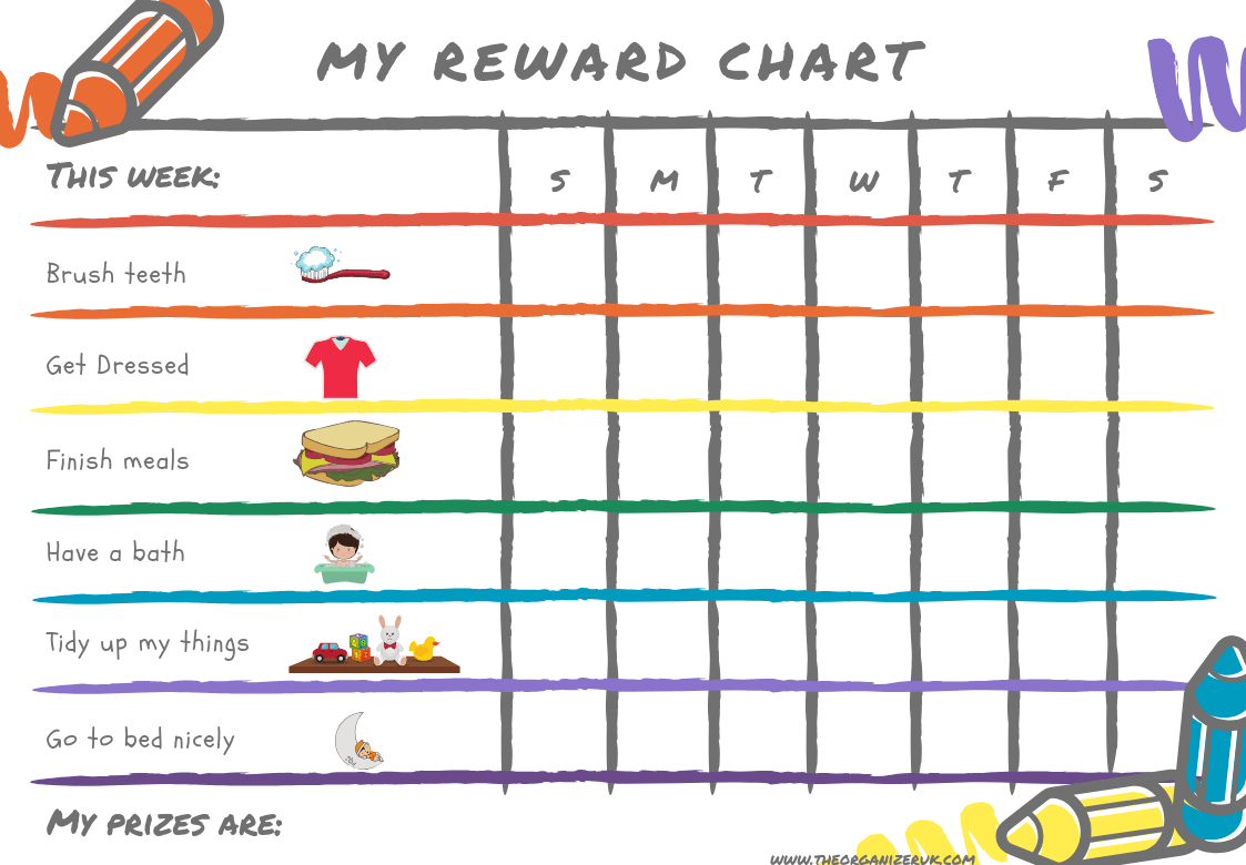 8 Of The Best Free Printable Kids Chore Charts ~ The Organizer Uk - Free Printable Teenage Chore Chart