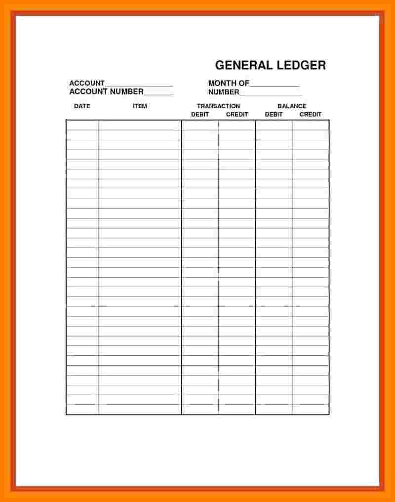 8+ Printable Ledger Paper Free | Ledger Review - Free Printable 4 Column Ledger Paper