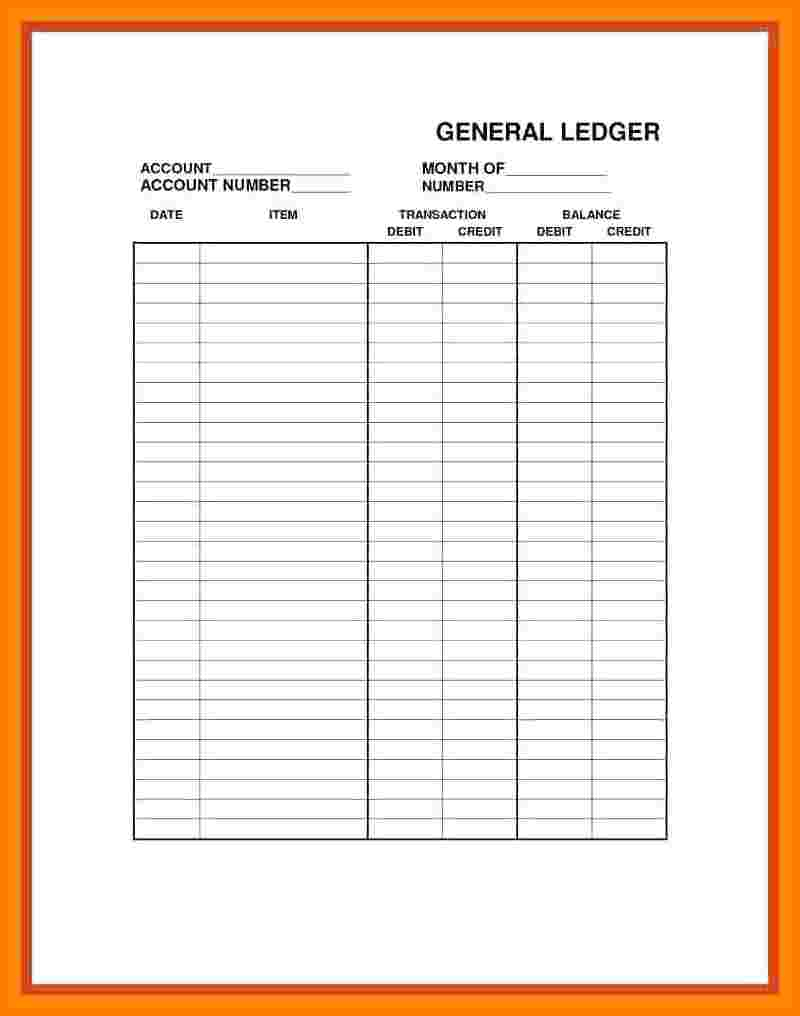 8+ Printable Ledger Paper Free | Ledger Review - Free Printable Ledger Sheets