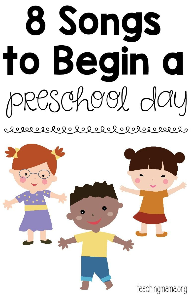 8 Songs To Begin A Preschool Day - Free Printable Song Posters! A - Free Printable Preschool Posters