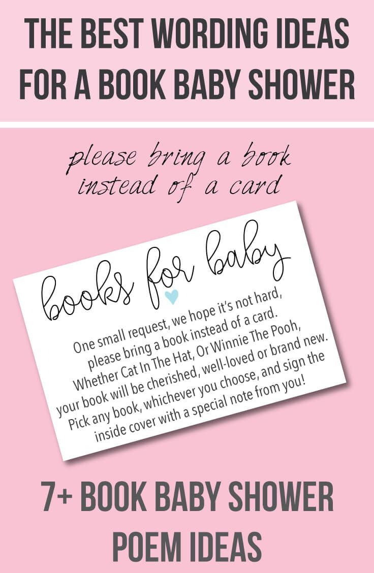 """9 """"bring A Book Instead Of A Card"""" Baby Shower Invitation Ideas In - Free Printable Book Themed Baby Shower Invitations"""