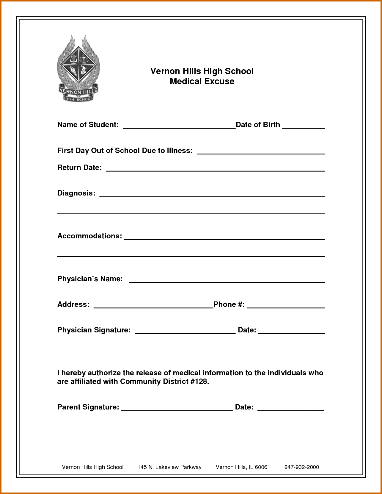 9+ Free Printable Doctors Excuse For School | Lease Template - Free Printable Doctors Excuse