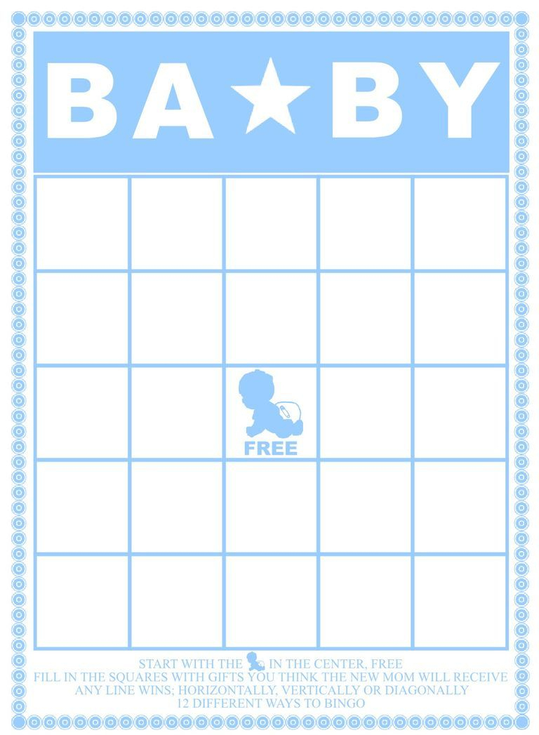 A Blue And White Baby Shower Bingo Card.   Baby Shower   Pinterest - Free Printable Baby Shower Bingo