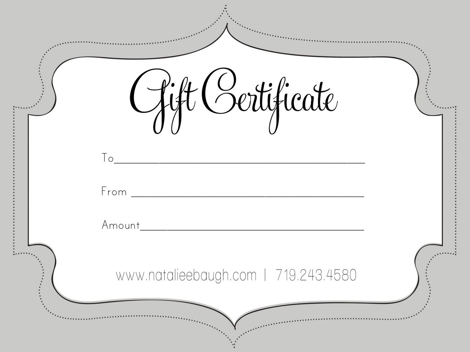 A Cute Looking Gift Certificate | S P A | Pinterest | Free Gift - Free Printable Photography Gift Certificate Template