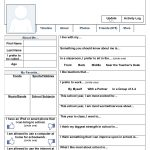 "A Free Printable ""facebook"" Page To Use On The First Day Of School   Free Printable Esl Worksheets For High School"