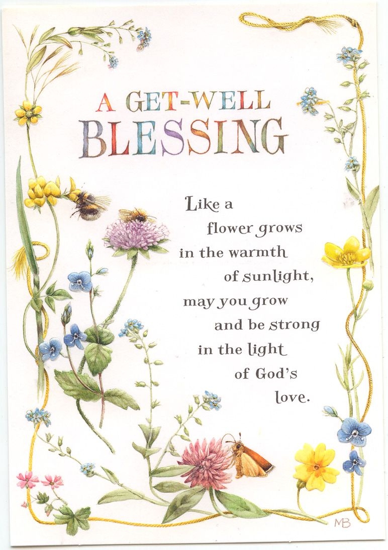 A Get Well Blessing Greeting Card   Feeling Stuck   Pinterest   Get - Free Printable Christian Birthday Greeting Cards