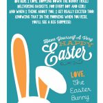 A Letter From The Easter Bunny :: Printable Easter Bunny Poem   Free Printable Poetry Posters