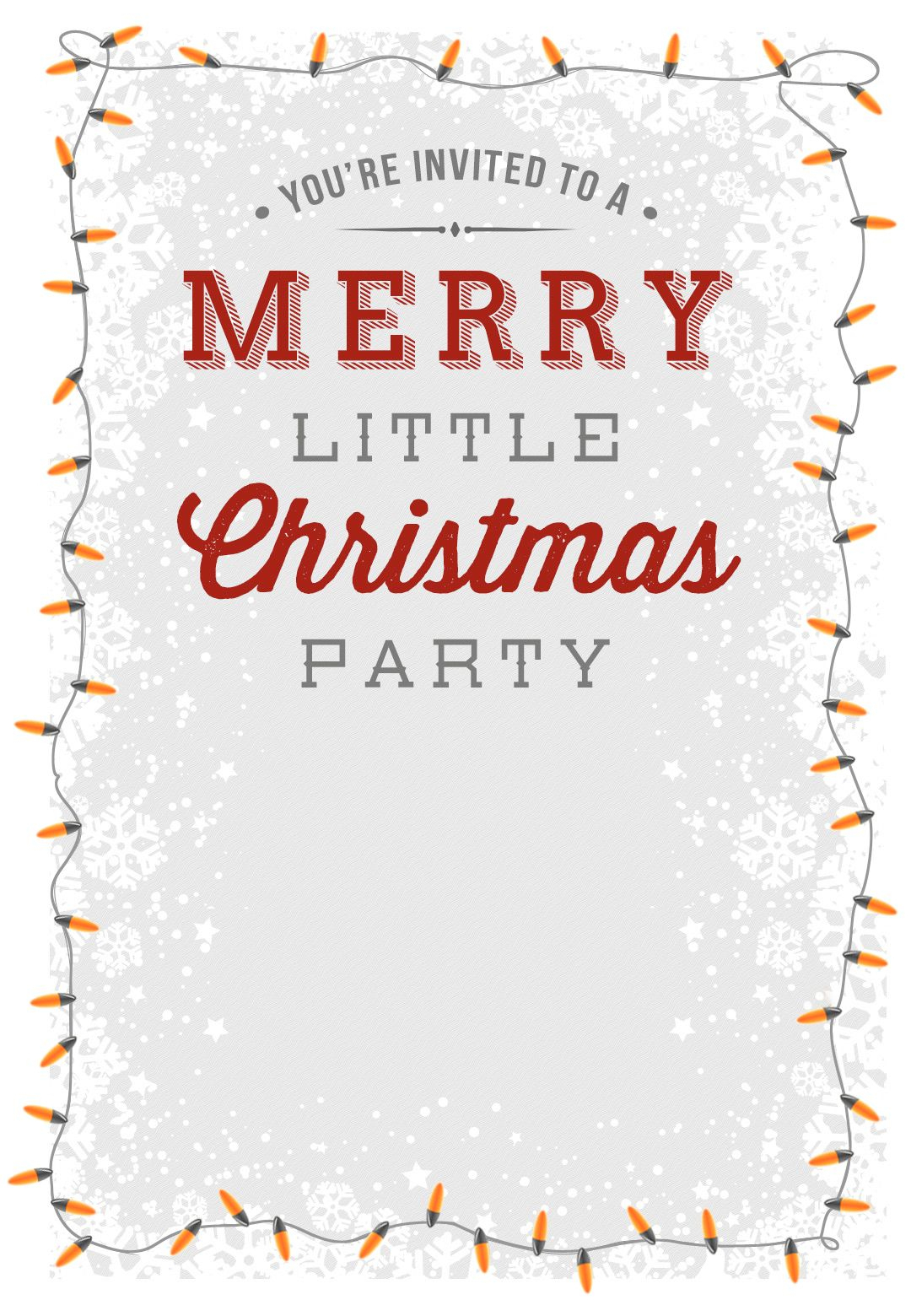A Merry Little Party - Free Printable Christmas Invitation Template - Free Printable Christmas Invitations