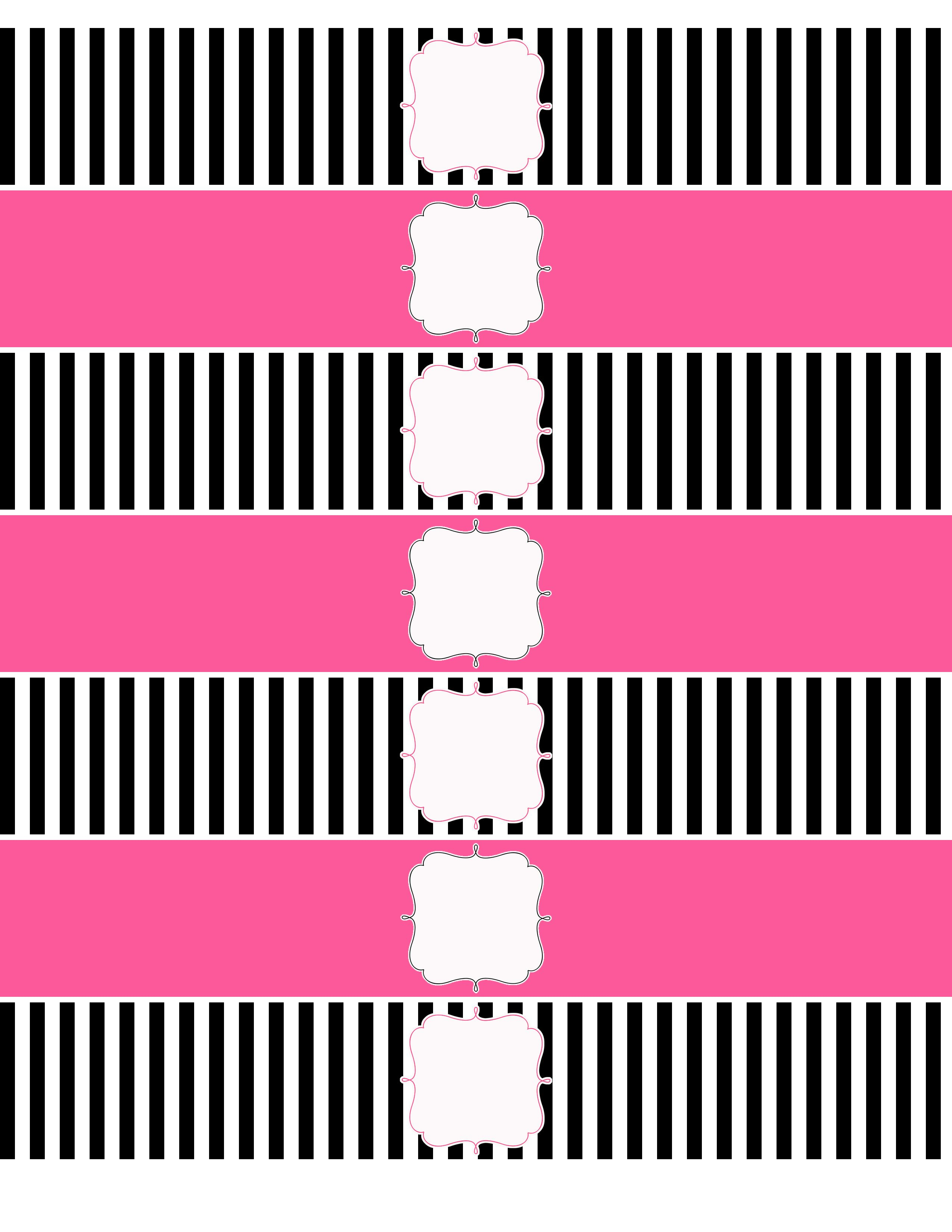 A Party For Miley | Free | Pinterest | Printable Water Bottle Labels - Free Printable Paris Water Bottle Labels
