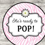 About To Pop Baby Shower Free Printables   Baby Shower Ideas   Ready To Pop Free Printable