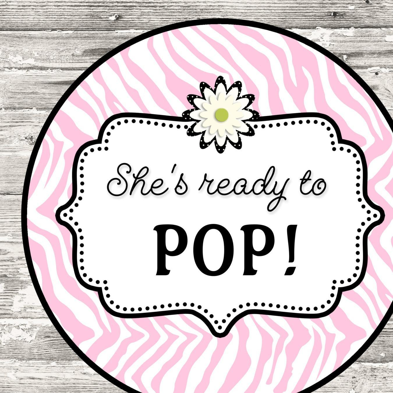 About To Pop Baby Shower Free Printables - Baby Shower Ideas - Ready To Pop Free Printable