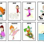 Action Verbs   Flash Cards (Set 1) Worksheet   Free Esl Printable   Free Printable Spanish Verb Flashcards