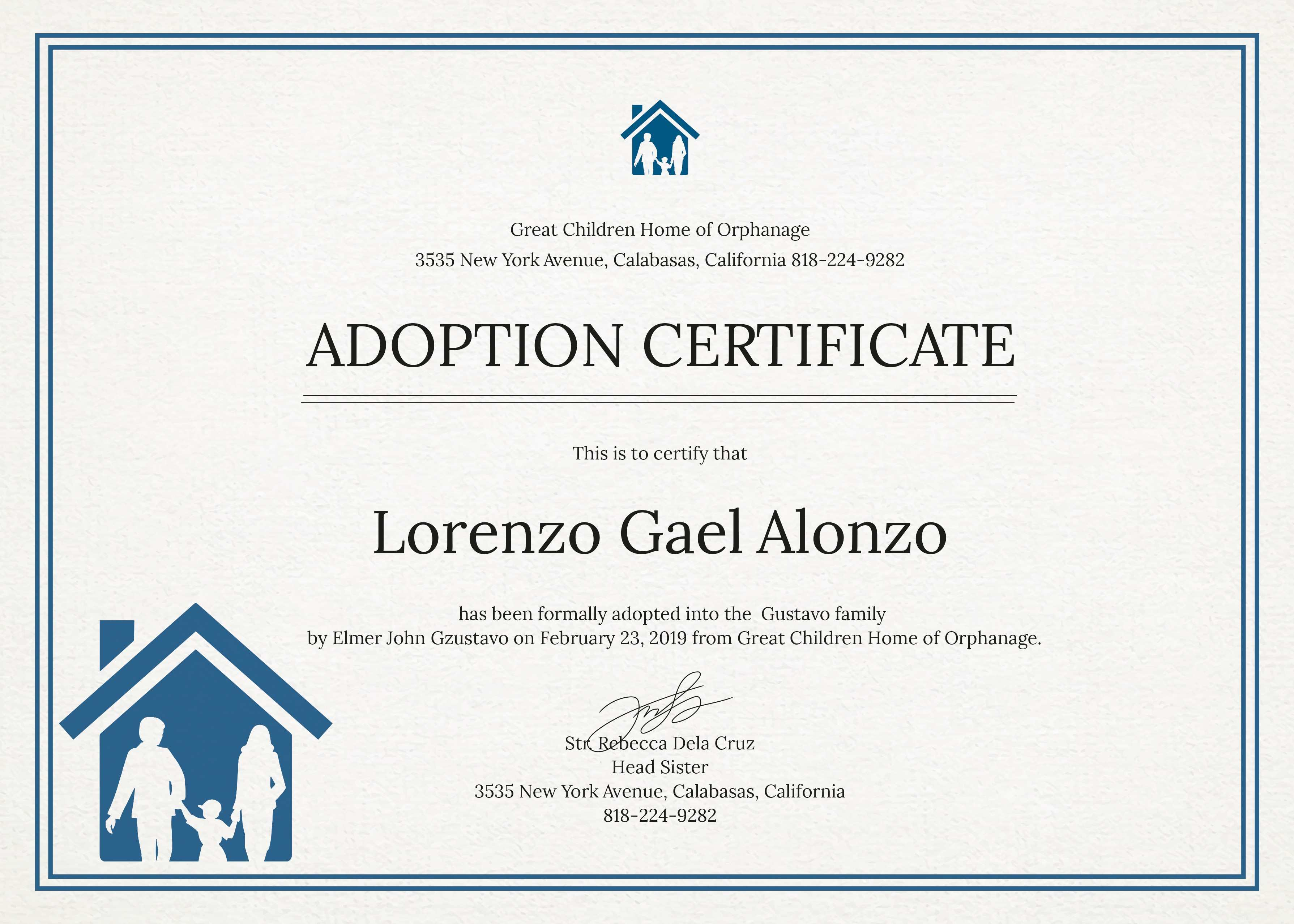 Adoption Certificate New Christening Certificate Template Choice - Free Printable Adoption Certificate