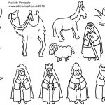 Adult Coloring Pages Of The Nativity Free In Nativity Coloring Pages   Free Printable Christmas Story Coloring Pages