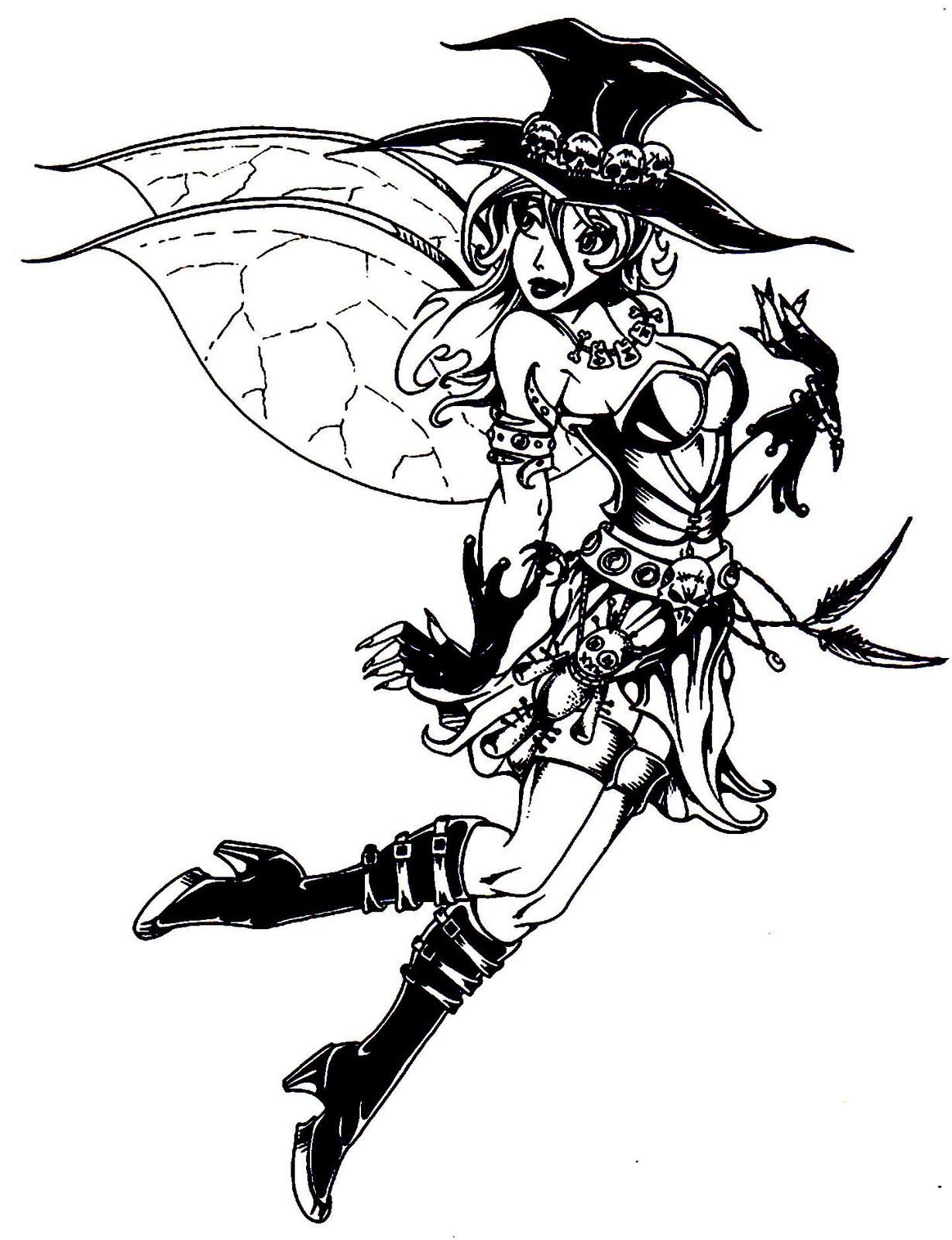 Adult Halloween Coloring Pages | Halloween Colorings | Fairies - Free Printable Coloring Pages For Adults Dark Fairies
