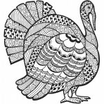 Advanced Coloring Page For Older Students Or Adults: Thanksgiving   Free Printable Thanksgiving Coloring Pages
