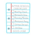 After School Checklist For Kids Free Printable   Get Out Of Homework Free Pass Printable