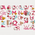 Alfabeto De Hello Kitty Con Accesorios. | 卡通凱蒂喵~ | Sanrio Hello   Free Printable Hello Kitty Alphabet Letters