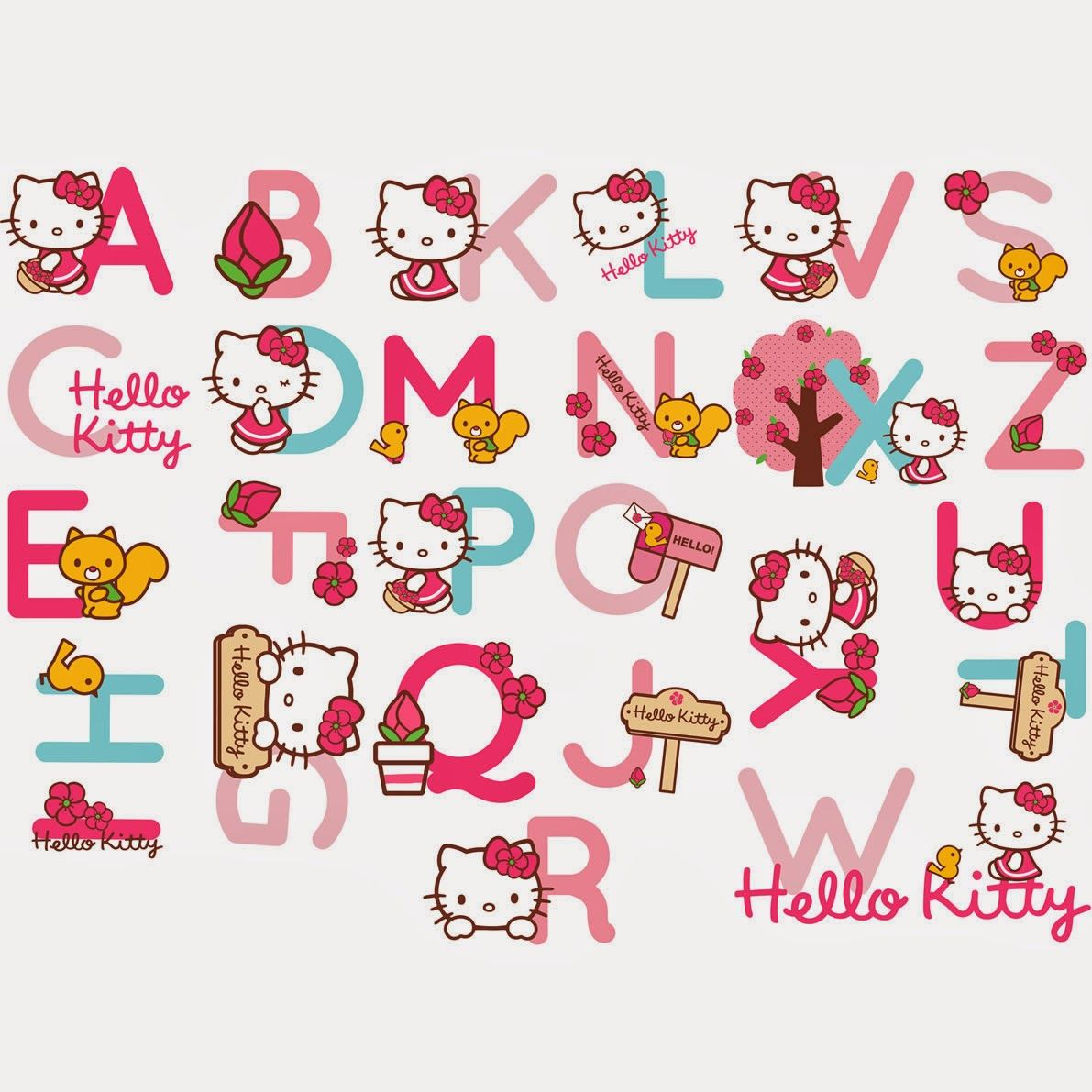 Alfabeto De Hello Kitty Con Accesorios. | 卡通凱蒂喵~ | Sanrio Hello - Free Printable Hello Kitty Alphabet Letters