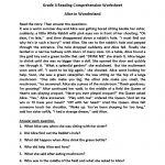 Alice In Wonderland Fourth Grade Reading Worksheets | Esl   Free Printable 4Th Grade Reading Worksheets