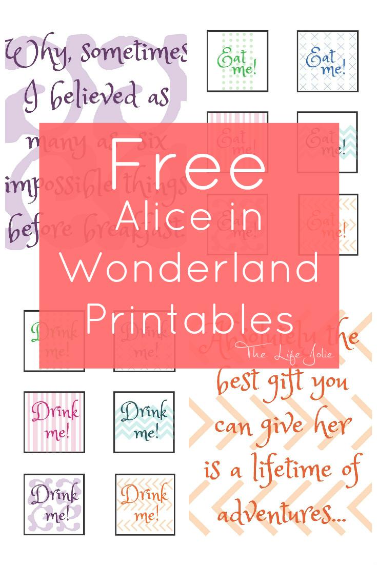 Alice In Wonderland Signs And Free Printables - Free Printable Signs